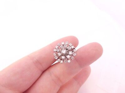 Fine heavy 80 point diamond cluster 18ct gold ring 18k 750