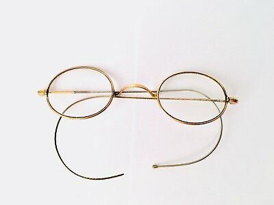 Antique Gold Coloured Spectacles with case