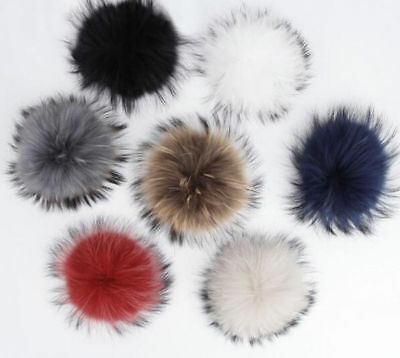 Real raccoon fur pom poms real fur hat in winter hats for womenampkintted hat