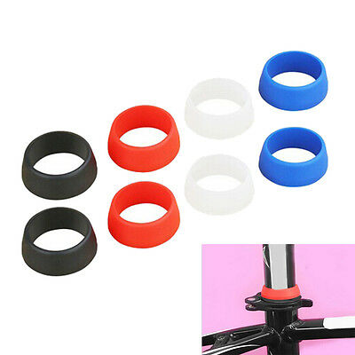 Mountain Road Bike Seat Post Silicone Rubber Dust Cover Ring Seatpost Small FG