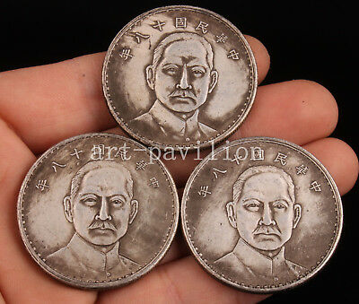 3 Silver Dollar Coins Craft Gift Great Historical Figure Collection