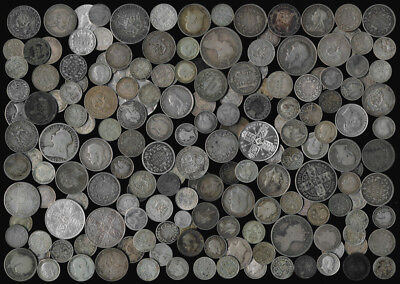 174 Old British Silver Coins ### Please See The Pictures ### No Reserve