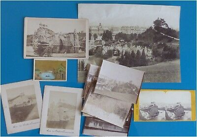 Lot anciennes photos Buttes Chaumont, Paris 19e arrd, vintage