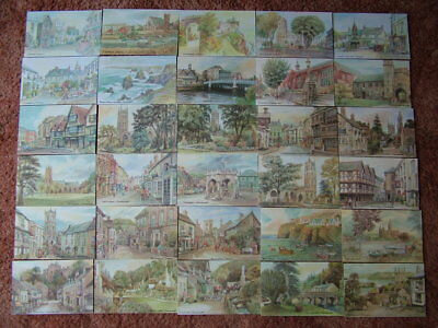 30 Unused Postcards From ORIGINAL WATERCOLOURS by DAVID SKIPP. Mint condition...