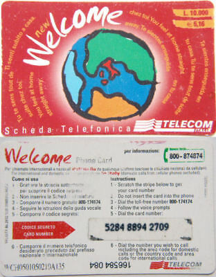 Italy Phone Card - Welcome