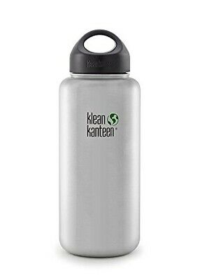 Klean Kanteen 40oz WIDE | Stainless Steel 'Brushed Steel' Bottle