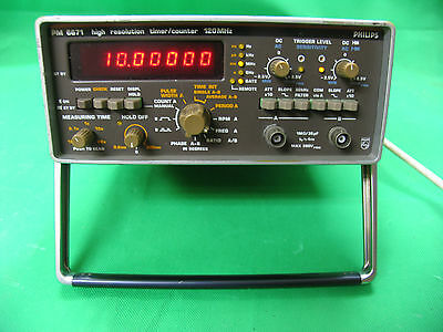 Philips PM 6671   HIGH RESOLUTION TIMER / COUNTER