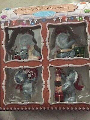 Me To You  Tatty Teddy Christmas Decorations Pack of 4 BNIB