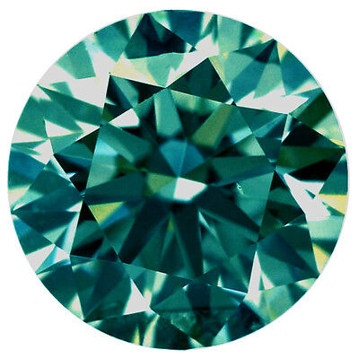 2.01ct VvS1/8.50 MM BLUEISH GREEN LOOSE ROUND REAL MOISSANITE 4 RING/PENDANT