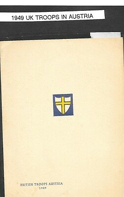 Forces Postal History 1949  UK Troops in Austria Christmas Card VGC