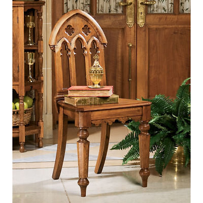 Gothic Revival Medieval English Antique Replica Solid Hardwood Chair NEW