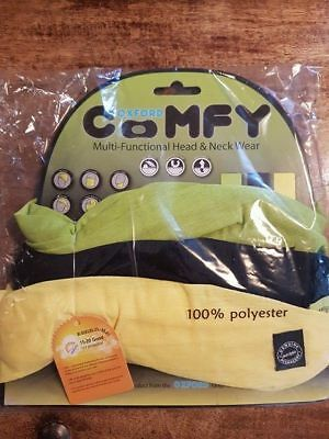 OXFORD COMFY 3 Pack NECK TUBE Yellow Green Beanie Balaclava Motorcycle Bike