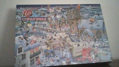 """Gibsons  1000 Piece Jigsaw """" Mike Jupp,s """"  ( I Love  Christmas). New Unopened."""