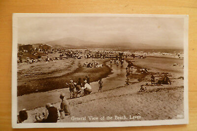 Real Photo The Beach,Leven posted 1934