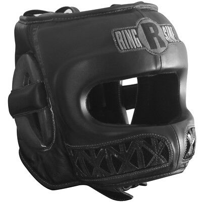 Ringside Youth Face Saver Boxing Headgear - Medium - Black