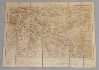 Antique French Army Linen Map - Number 25 - Melun 1902