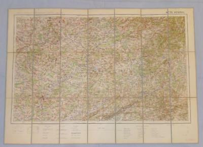 Antique French Army Linen Map Number 35 - Vesoul (Haute Saone)