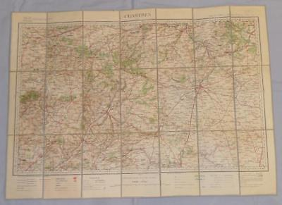 Antique French Army Linen Map - Number 24 - Chartres 1899-1903