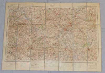 Antique French Army Linen Map - Number 4 - Lille 1898-1901