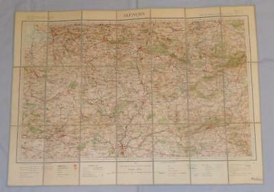 Antique French Army Linen Map - Number 23 - Alencon 1894-1905