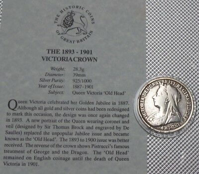 Queen Victoria Silver Crown 1897 The Great Britain Collection & Cert