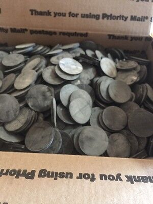 """NEOPRENE RUBBER DISCS 1/8"""" Loaded Flat Rate Box 1""""3/8"""" Round"""