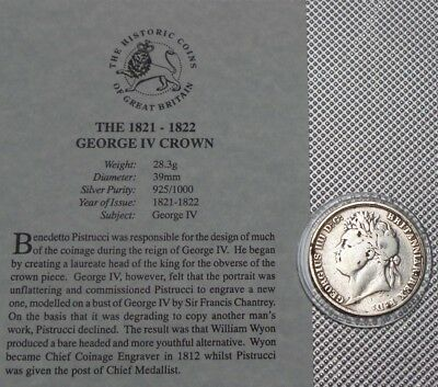 George Iv Silver Crown 1821 The Great Britain Collection & Cert