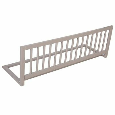 Safetots Wooden Bed Rail Grey Bed guard (IN NATURAL PINE NOT WHITE AS PICTURED)