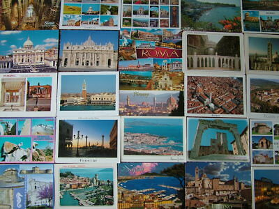 95 Larger/Oversize Postcards of ITALY & ISLANDS.  Used & Unused.