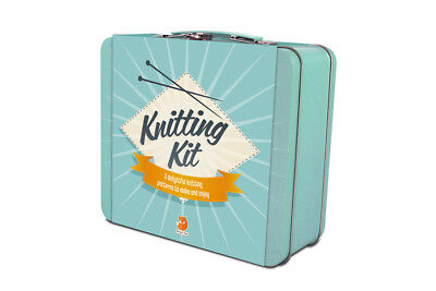 Knitting Kit Gift Tin 3 delightful Patterns to make and enjoy Great Gift