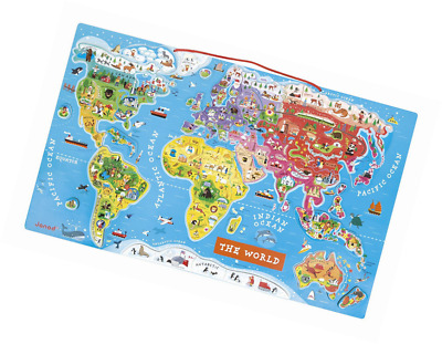 Janod magnetic world map 3423 picclick uk janod magnetic world map gumiabroncs Gallery