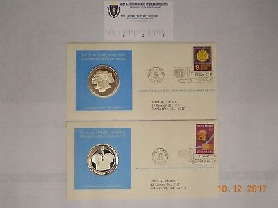 Un Sterling Silver Rounds, On First Day Covers
