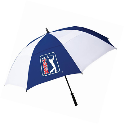 PGA Tour 62 Inch Windproof Umbrella with Fiberglass Shaft and Easy Opening