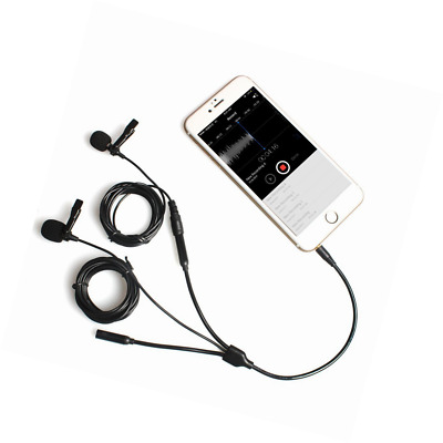 MAONO Lavalier Microphone with Secondary Lavalier Mic Headphone Splitter