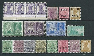 Collection of mounted MINT India stamps.