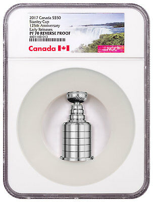 2017 Canada 125th Stanley Cup Silver Reverse Proof $50 NGC PF70 UC ER SKU49984
