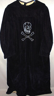 -Rare- 1903 -Odd Fellows/IOOF- Vintage Black Velvet Victorian Masonic Skull Robe