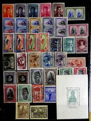 Spain: Classic Era Back Of Book Stamp Collection