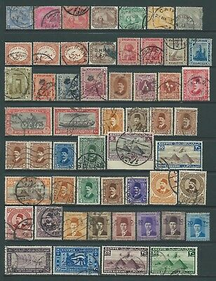 2 scans-Collection of mostly good used Egypt stamps.