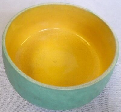Green & Yellow Bretby Pottery Bowl