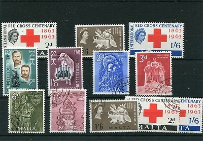 Malta.12 -- 1962/3 Qe2 Mm/used Stamps On Stockcard