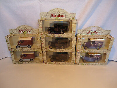 Lilliput Lane Diecast delivery truck NIP 7pc lot advertising