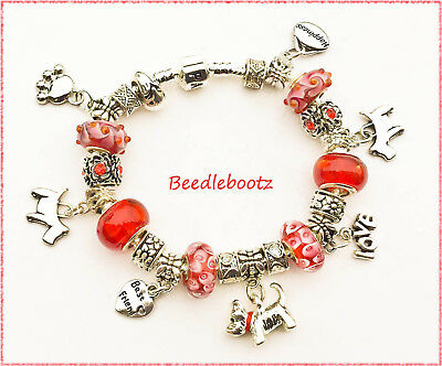 Westie Paws and Happiness Charm Bracelet, Best Friend. Hand Made With Love xXx