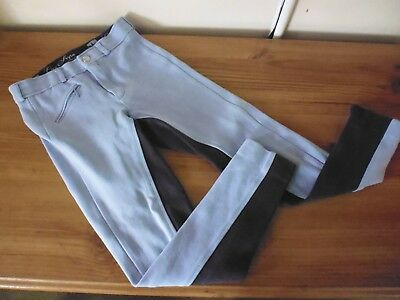 Girls Blue Equestrian Horse Riding Trousers From Life Style Legacy.. Size 24