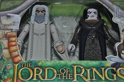Minimates LORD OF THE RINGS figures set SARUMAN & WORMTONGUE LOTR sealed pack