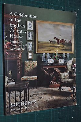 Sotheby CELEBRATION of the ENGLISH COUNTRY HOUSE Auction catalog, 1999 #7292 sta