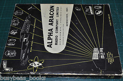 ALPHA ARACON Catalog, 1959, Canadian, Radio electronics