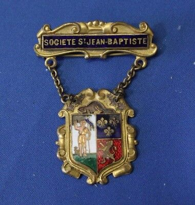Medal Pin Canada Quebec low canada  Societe St Jean Baptiste