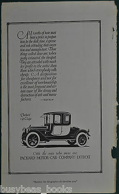 1914 PACKARD advertisement, Packard 2-38 Coupe, vintage auto