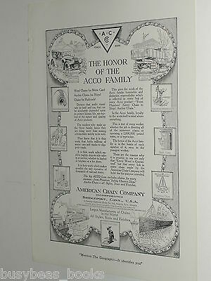 1920 American Chain Co. advertisement, Weed Tire Chains, vintage auto